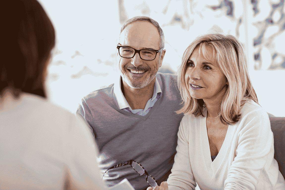 Senior couple meeting a doctor